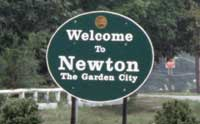 Picture of sign with Welcome to Newton, The Garden City